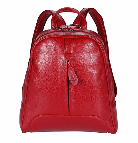 Purse Women Bag Rucksack WFB2 ANNA Backpack QUEEN Red Travel wfb2 Blue Mini Bookbag for Leather nxx8IYH