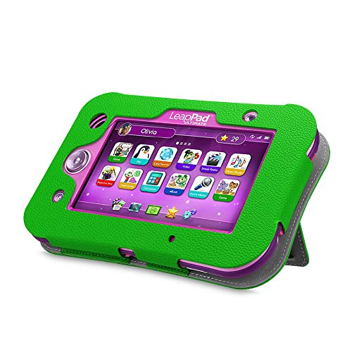 Fintie LeapPad Ultimate Case - Kids Friendly [Hands Free] Dual Viewing Angle Premium Vegan Leather Stand Cover for 7-Inch Leapfrog LeapPad Ultimate Ready for School Tablet, Green