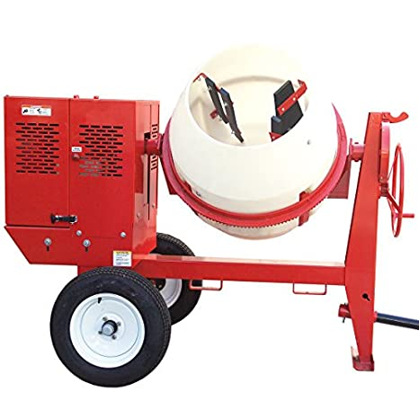 7 cu Poly Drum 1.5 hp 1-Phase ft Multiquip WM70PE Mortar Mixer 115//230V