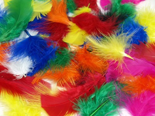 Fluffy Craft Feathers 25g Bag by CI