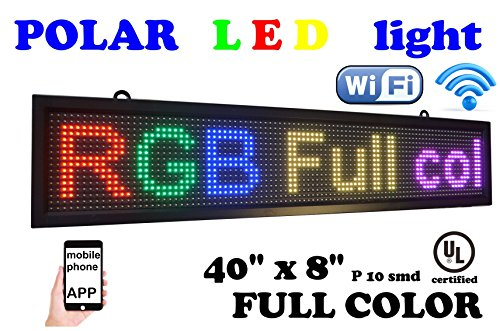 Scrolling Led Sign - WiFi RGB Color Sign 40