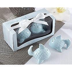 Kissing Fish Ceramic Salt and Pepper Shakers Wedding Favors (1)