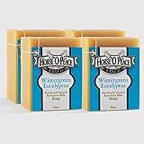 Wintergreen Eucalyptus Handmade Herbal 100% Raw Goat Milk Soap (4.5oz./Bar) (4 Pack) For Sale