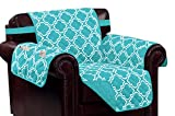 Kashi Home Aqua Print w/Strap and 2 Side Pockets-Chair Macy Reversible Furniture Protector,