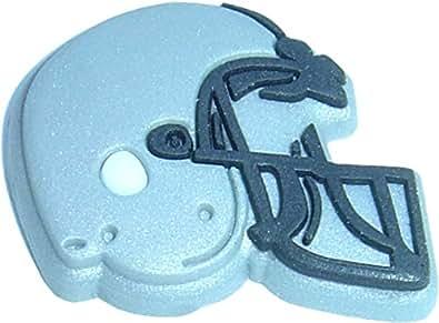 Grey Football Helmet Shoe Snap Charm Jibbitz Croc Style