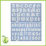 Ensemble Pochoir Alphabet Vieil Anglais 30 mm