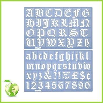 Amazon helix old english alphabet stencil set 30mm helix old english alphabet stencil set 30mm thecheapjerseys Choice Image