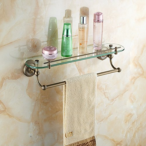 Yomiokla Bathroom Accessories - Kitchen, Toilet, Balcony and Bathroom Metal Towel Ring Attached to lever double-glazed windows built-in shelf cosmetic holder Strap