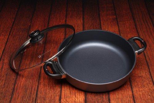"51nnBJRffCL - Swiss Diamond Nonstick Saute Pan with Lid - 4.3 qt (11"")"