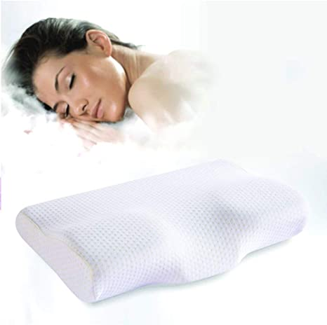 Neck Pillow Butterfly Shaped Memory Foam Bedding Slow Rebound Cervical Neck Pain