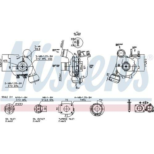 Nissens 93053 Turbo Charger: