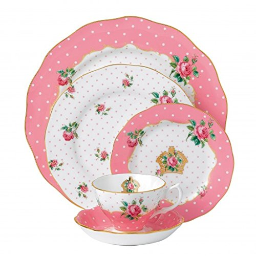 (Royal Albert Cheeky Pink 5-Piece Place Setting )