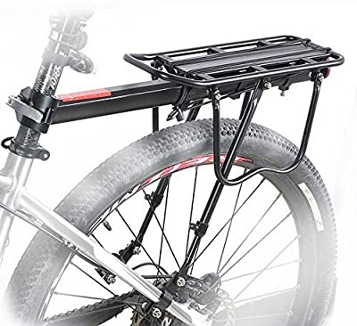 COMINGFIT 110 Lbs Capacity Aluminum Alloy Bicycle Rear Rack Adjustable Pannier Bike Luggage Cargo Rack Bicycle Carrier Racks