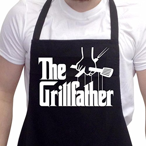BBQ Apron Funny Aprons For Men The Grillfather Barbecue Grill Kitchen Gift