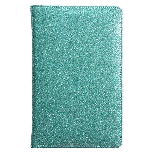 Glitter Teal Server Book for Waitress Book Server Wallet Waiter Book Cute Bling Sparkly Waitstaff Organizer Fit Waitress Apron Teal Turquoise (Green)