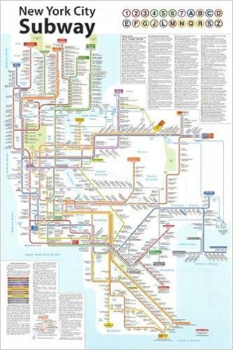 Nyc Subway Map 2011.New York City Subway Poster Tauranac Press 9781878892317 Amazon
