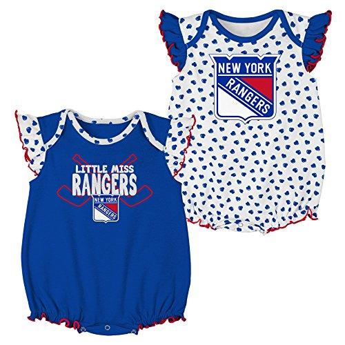 Outerstuff NHL New York Rangers Children Girls Hockey Hearts 2Piece Onesie  Set 813f6d43d