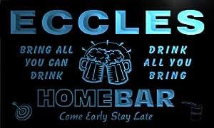 q12817-b ECCLES Family Name Home Bar Beer Mug Cheers Neon Light Sign