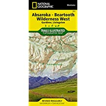 Absaroka - Beartooth Wilderness West, Montana Topographic Map: Gardiner, Livingston