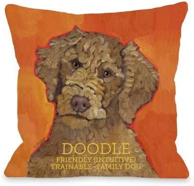 One Bella Casa Doodle 2 Pillow, 26 by 26-Inch