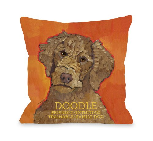 One Bella Casa Doodle 2 Pillow, 18 by 18-Inch from One Bella Casa