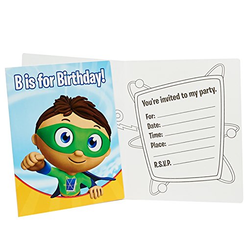 Super Why Party Supplies - Invitations (8)