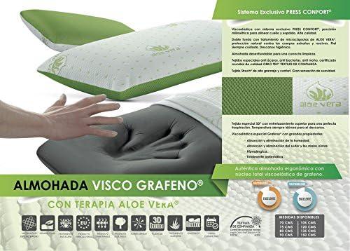 Living Sofa Almohada VISCOELASTICA GRAFENO Terapia Aloe Vera 70 CM ...