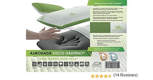 Living Sofa Almohada VISCOELASTICA GRAFENO Terapia Aloe Vera 75 CM (Todas Las Medidas)