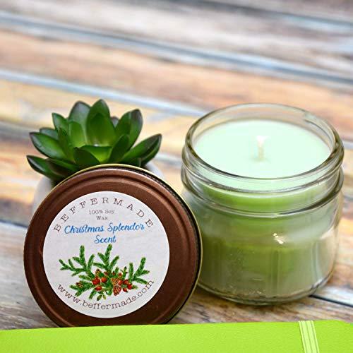 Christmas Splendor Soy Candle - Christmas Splendor Candle - 4 oz soy mason jar candle