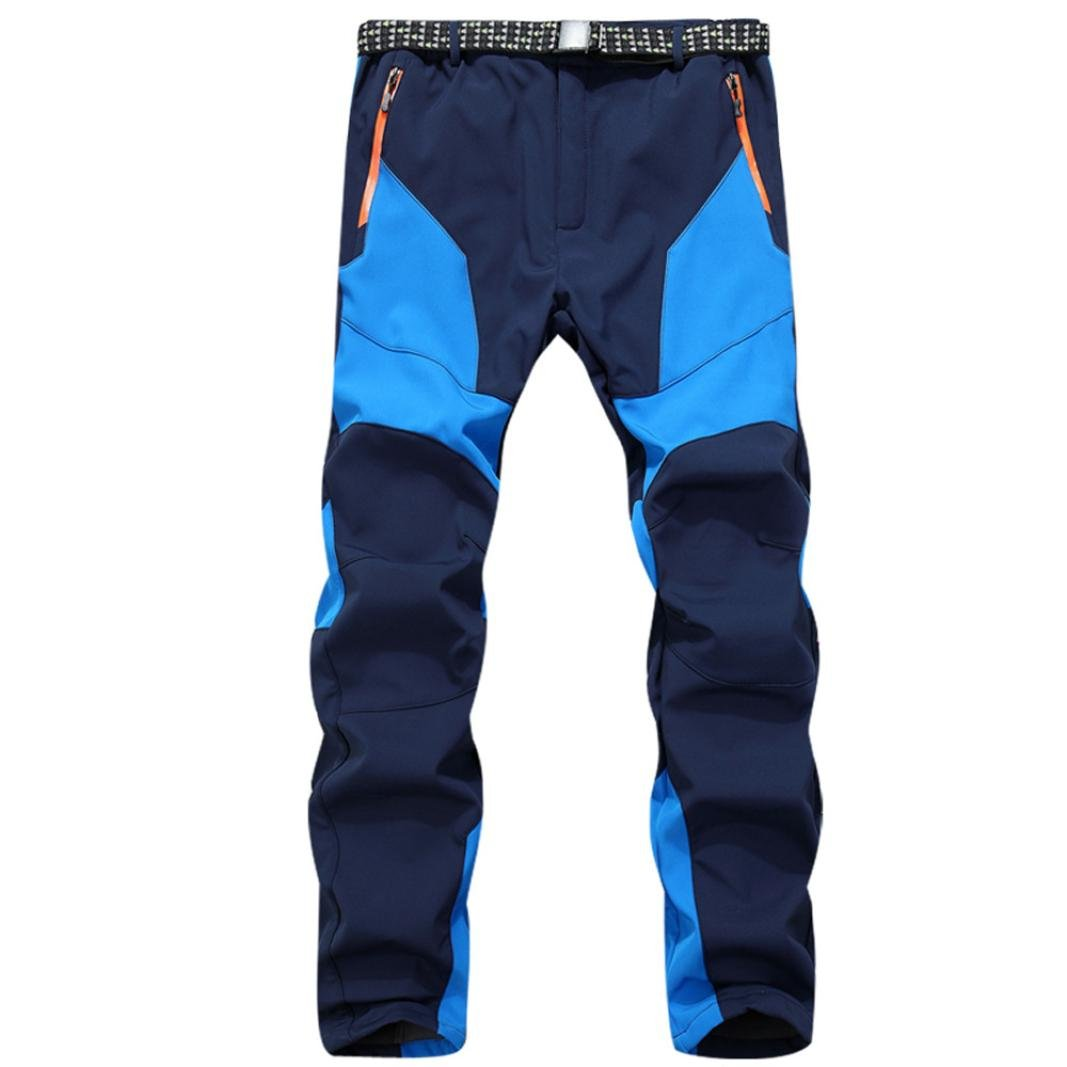 Clearance Sale! Men Pants WEUIE Waterproof Windproof Outdoor Sports Warm Winter Thick Pants Trousers (34-41 Waist, Blue) by WEUIE Men's Clothing (Image #1)