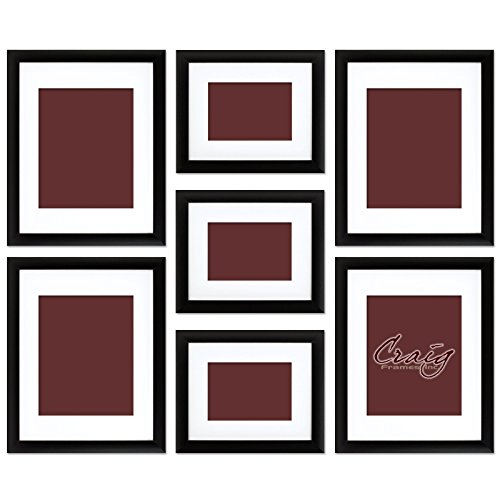 Amazon.com - Craig Frames 1WB3BK Picture Frame 7-Piece Wall Set ...