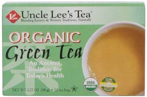 Uncle Lee's Tea, Organic Green Tea, 20 Count