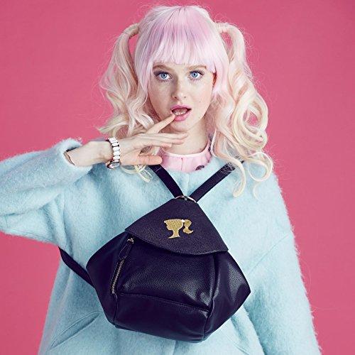 Loisir Style Cuir de Individualité Femmes Filles PU Sac à en la en Mode Vogue la 01A Pure Simple Dos de Irrégulier de BBBP095 Fashion série Barbie Coleur fARvOZ1a1