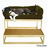 The Savvy Pet Lacey's Lookout Large Natural Pet Window Seat Chocolate
