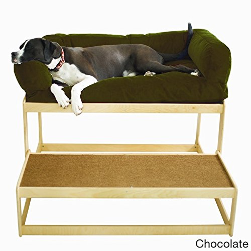 The Savvy Pet Lacey's Lookout Large Natural Pet Window Seat Chocolate by Pet Savvy