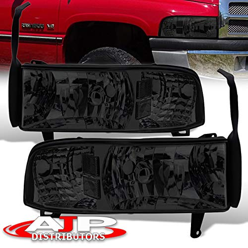 Replacement Smoked Lens Headlights with Clear Corner Reflectors for Dodge Ram 1500/2500/3500