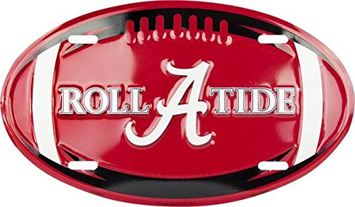 Alabama Roll Tide Metal Oval license plate 7 x 12