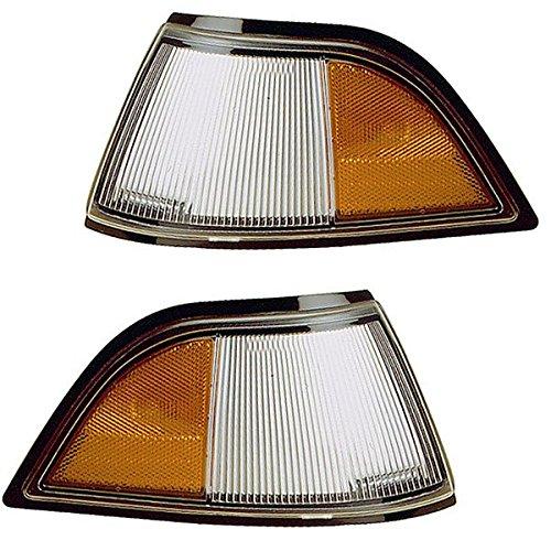 1991-1994 Chevy/Chevrolet Cavalier Corner Park Light Turn Signal Marker Lamp Pair Set Right Passenger And Left Driver Side (1991 91 1992 92 1993 93 1994 (Chevy Cavalier Turn Signal)