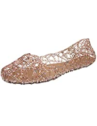 Donalworld Women Summer Breathable Jelly Nest Flat Sandals Rain Shoes