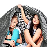 Quility Premium Kids Weighted Blanket & Removable Cover   5 lbs   36