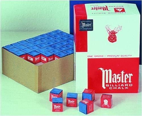 Original USA Billar Tiza Master azul, 144 Unidad en Caja: Amazon ...