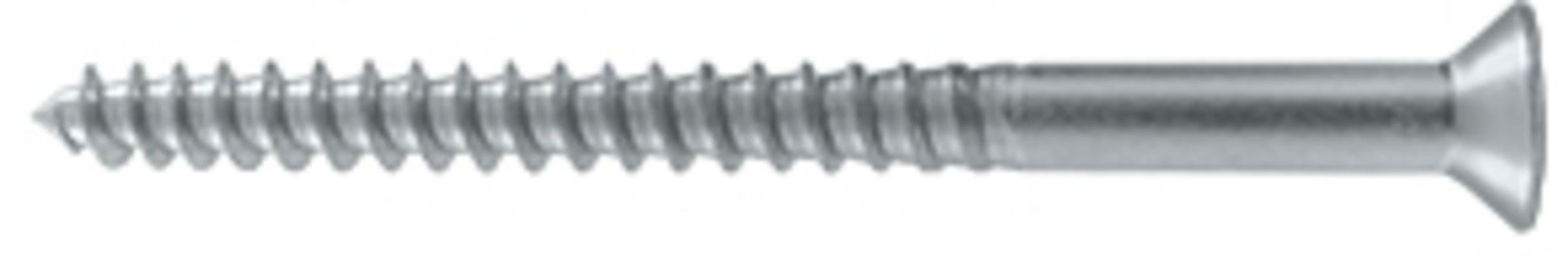 Deltana SCWB1025 2-1/2'' #10 Solid Brass Wood Screw, Brushed Chrome