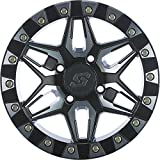 Sedona Split 6 Beadlock ATV Wheel - Machined/Black [14x7] 4/156 - (4+3)