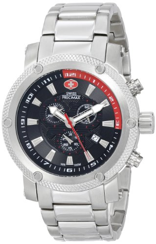 Swiss Precimax Men's SP13082 Volt Pro Analog Display Swiss Quartz Silver Watch