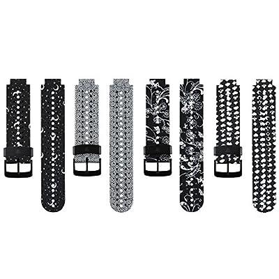 CUMILO For Garmin Forerunner 235 Watch Band HONECUMI Replacement Silicone Watch Band Strap for Garmin Forerunner 220/230/620/630/735 Smart Watch