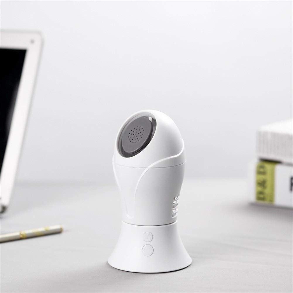 Color : White Mini Portable Cooling Fan Automatic Rotation Leafless Fan Small USB Electric Fan Fresh Office Student Desktop Mini Leafless Fan