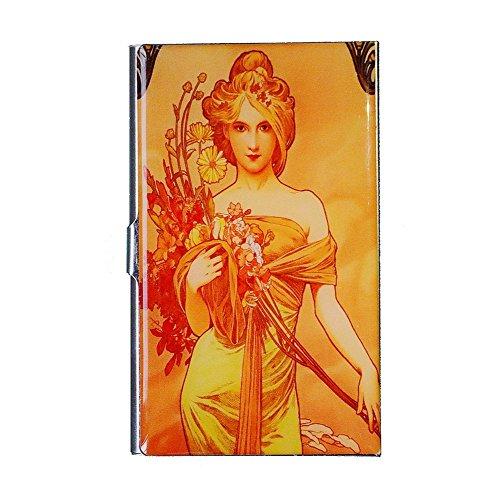 Tumecos Design VIN-23 Vintage Stainless Steel Business Card Holder Organizer Card Case Keepsake Gift