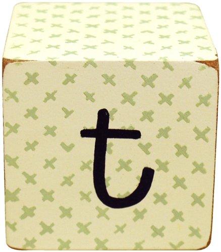 New Arrivals Letter Block T, Green/White