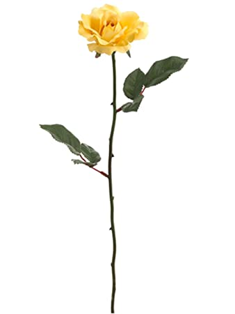 Amazon Allstate Club Pack Of 24 Artificial Single Yellow Rose
