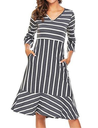 high neck stripe dress - 3